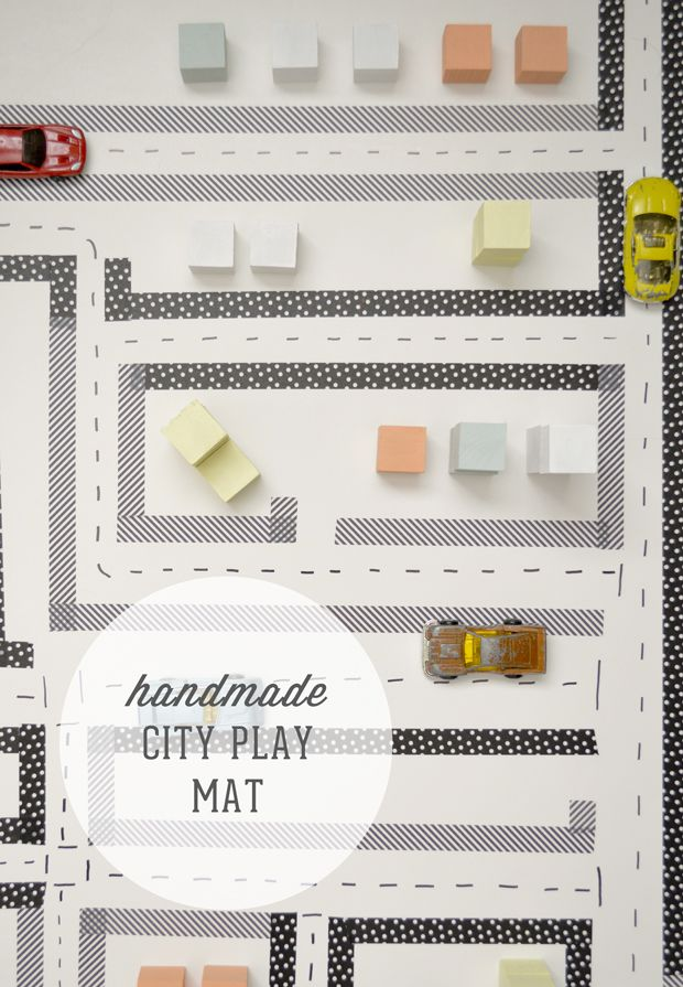 Swoon!: We built this city (a handmade washi play mat)