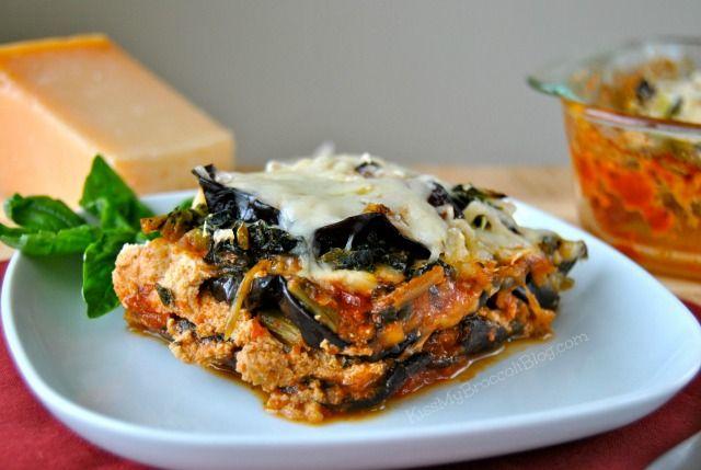 Roasted Eggplant & Portobello Lasagna (GF) via Kiss My Broccoli (OMG I ...