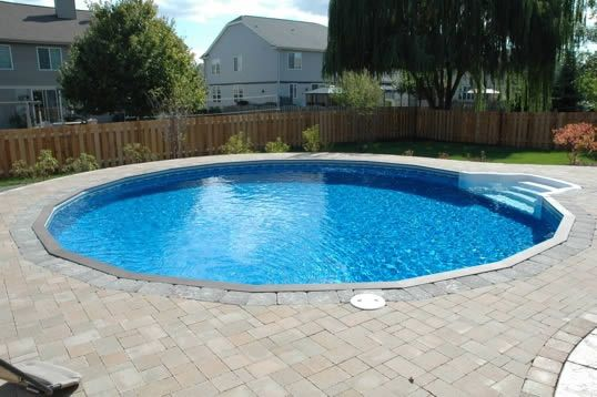 Riviera hybrid 8 semi inground pools just love it for Semi inground pool