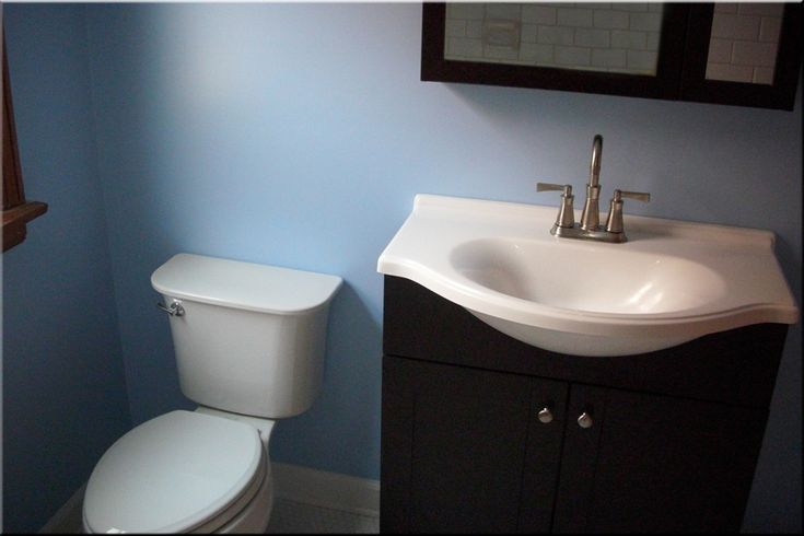 light blue bathroom  home  Pinterest