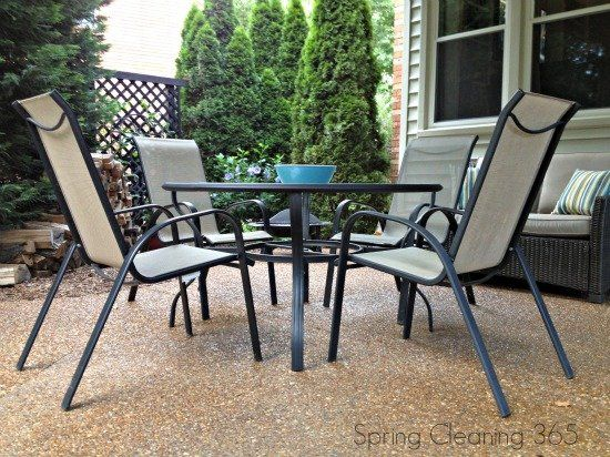 Clean Outdoor Furniture Spring Cleaning 365 Pinterest