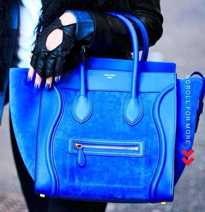 Cobalt blue Celine handbag