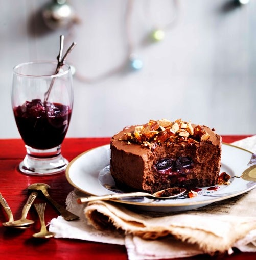Chocolate praline shortcake with sour cherry centre | Cakes and ...