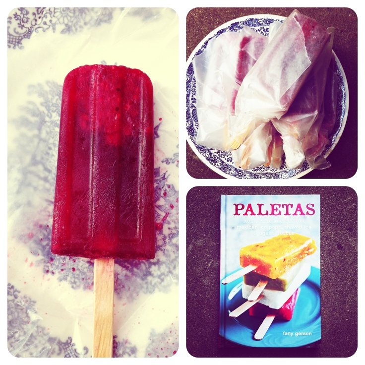Homemade raspberry–hibiscus Mexican ice pop, recipe from Fany Gerson ...