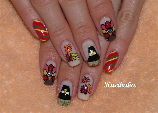 Toe Nail Designs For Thanksgiving : Thanksgiving day nails nail ideas for my daughter