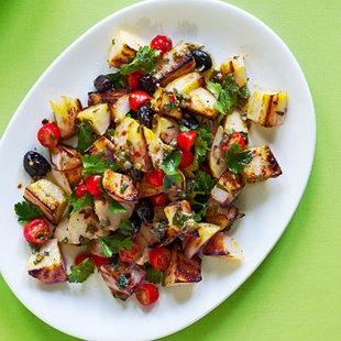 Grilled Potato Salad | Three Cooks a Tiers | Pinterest