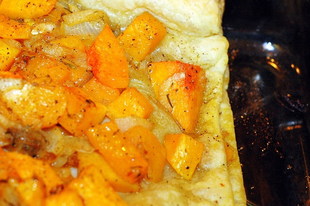 butternut squash and caramelized onions galette by sassyradish