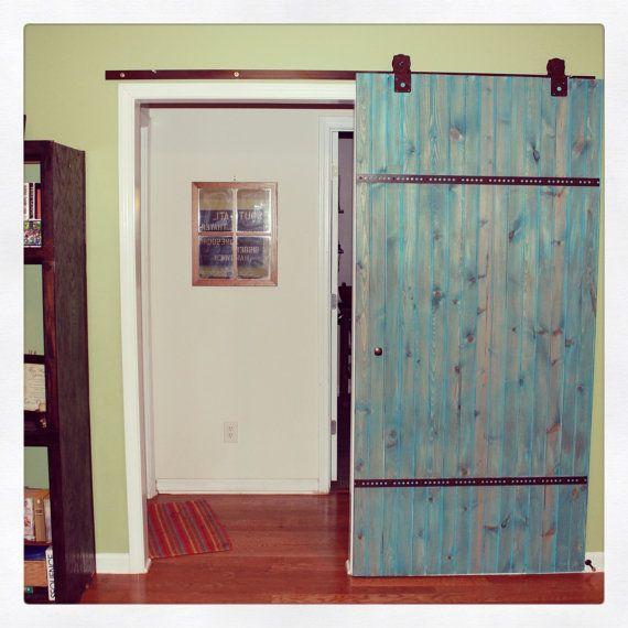Barn door wood bare interior door reclaimed wood home decor for Barn door home decor