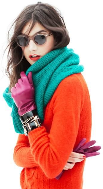 Bright orange, teal and purple?  Permission to go crazy full speed ahead!!! J.Crew