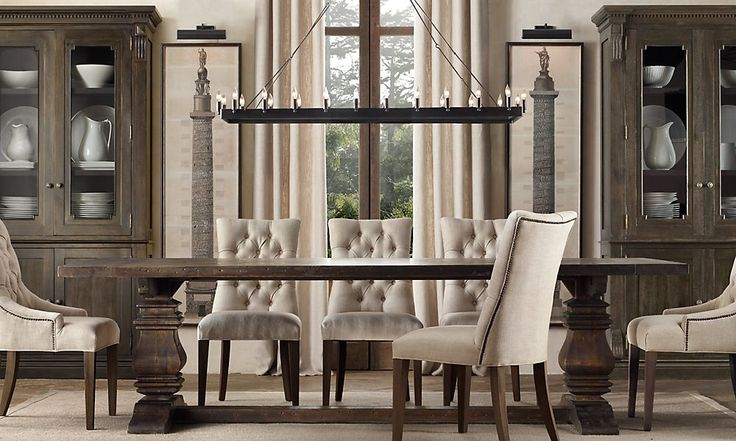 Restoration Hardware Formal Dining Home Decor Pinterest : 98a0cdf91b52175f272598d8a3598a9f from pinterest.com size 736 x 441 jpeg 68kB