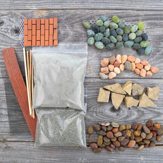 Miniature Garden Patio Sampler Kit Mini Patio Mix Stone