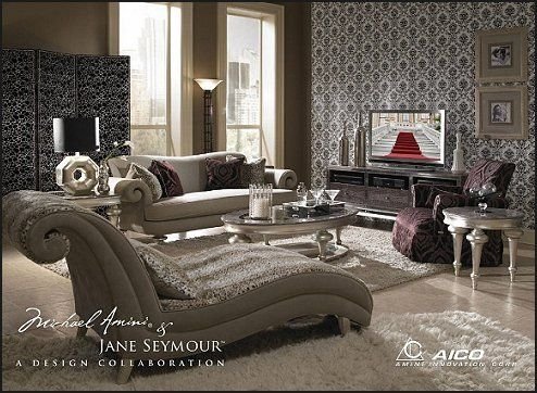 S old hollywood style decor old hollywood pinterest for Hollywood glam living room ideas