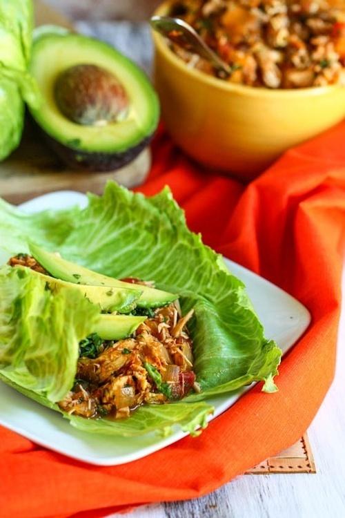 Crock Pot Tex-Mex Chicken Lettuce Wraps | Slow Cooker | Pinterest