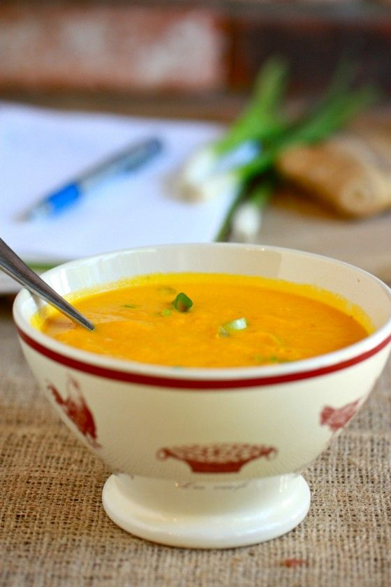 Carrot Ginger Soup | Vegan - Soup | Pinterest