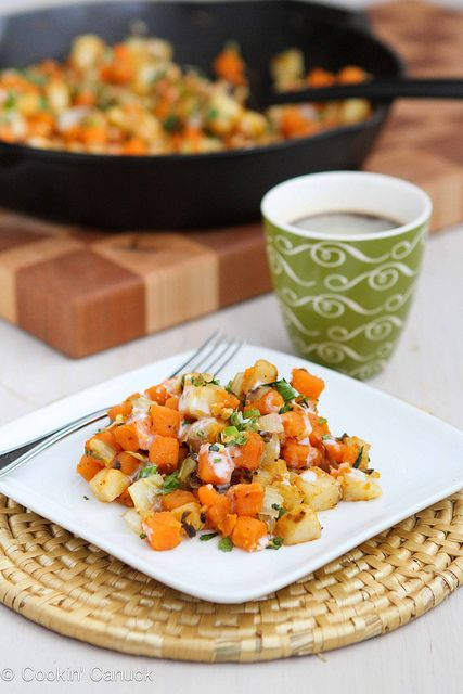 Sweet Potato & Endive Hash Recipe with Sriracha Buttermilk Sauce by ...