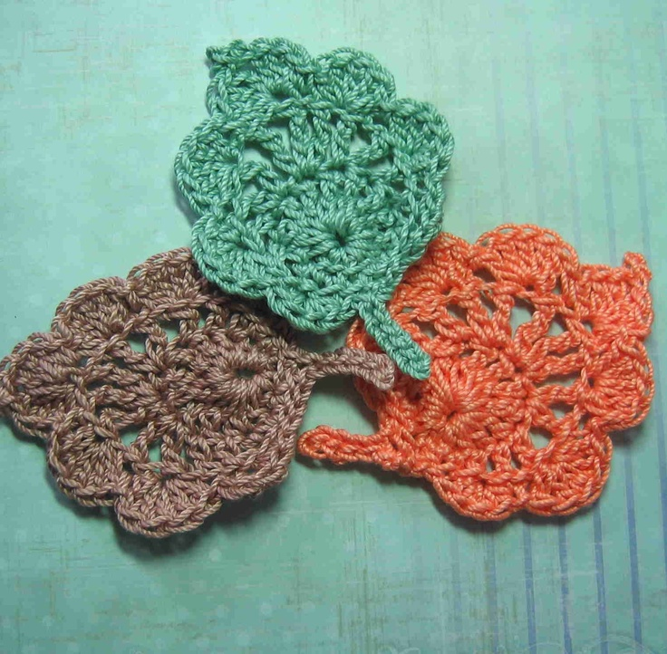 Crochet Leaf : Crochet Leaf Applique Crochet & Knit Pinterest