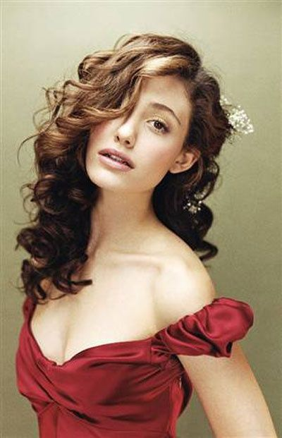 emmy-rossum-curly-hair-on-a-side | Best Pins Today! | Pinterest
