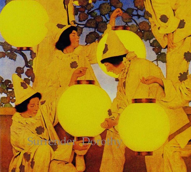 Maxfield Parrish Art Nouveau....lovely