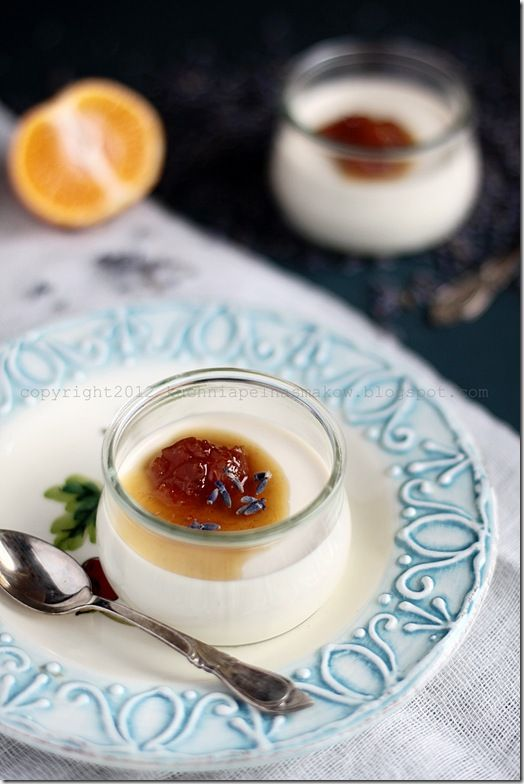 Lavender Panna Cotta with Mandarin Sauce | FOOD: A Floral Palate | Pi ...