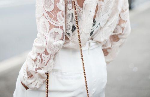 Pretty lace detail