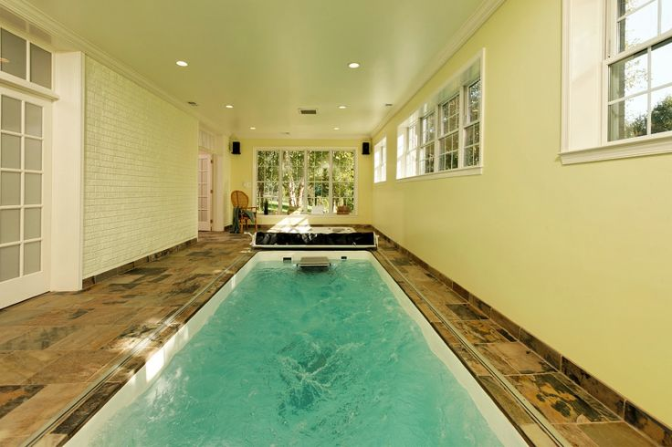 located in darnestown we added this endless pool in the basement of