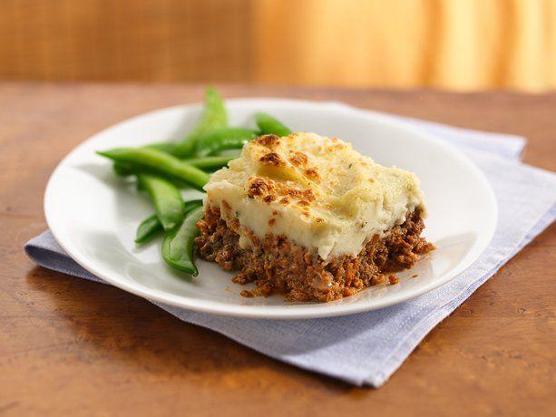Garlic Potato-Topped Italian Meat Loaf | Recipe