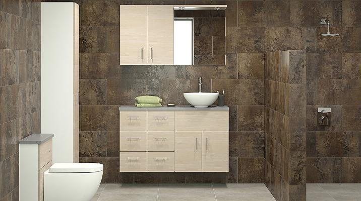too modern for me but love the style of walk in shower
