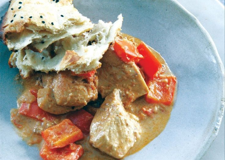 chicken with sour cream amp red bell pepper an indian twist on a ...