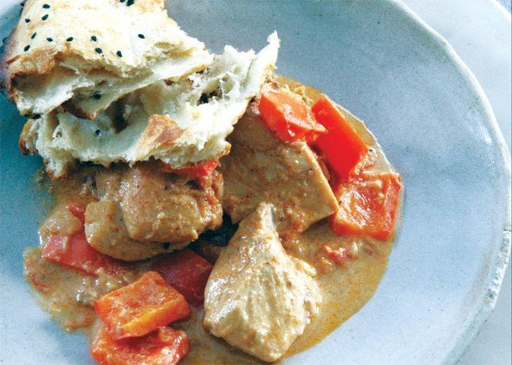 Chicken With Sour Cream & Red Bell Pepper Recipe — Dishmaps