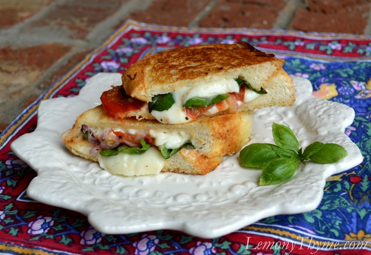 Caprese Grilled Cheese Sandwich | Food | Pinterest