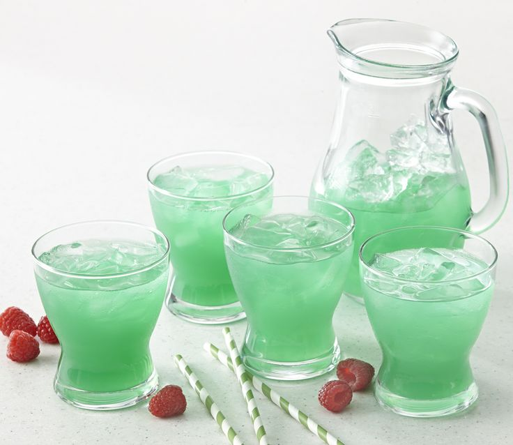 Green-tinted raspberry lemonade will satisfy all your little leprechauns this St. Patrick's Day.