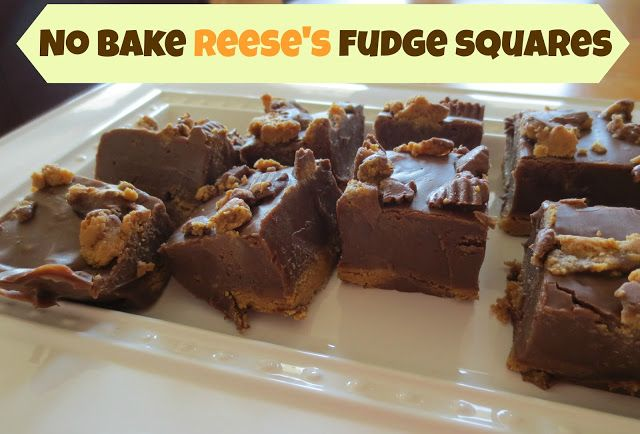 No Bake Reese's Fudge Squares - Super easy and delicious!
