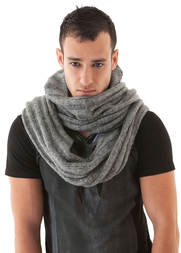 Knitting Scarf For Man : Mens scarf soft knit hooded funkdpunk my styles pinterest