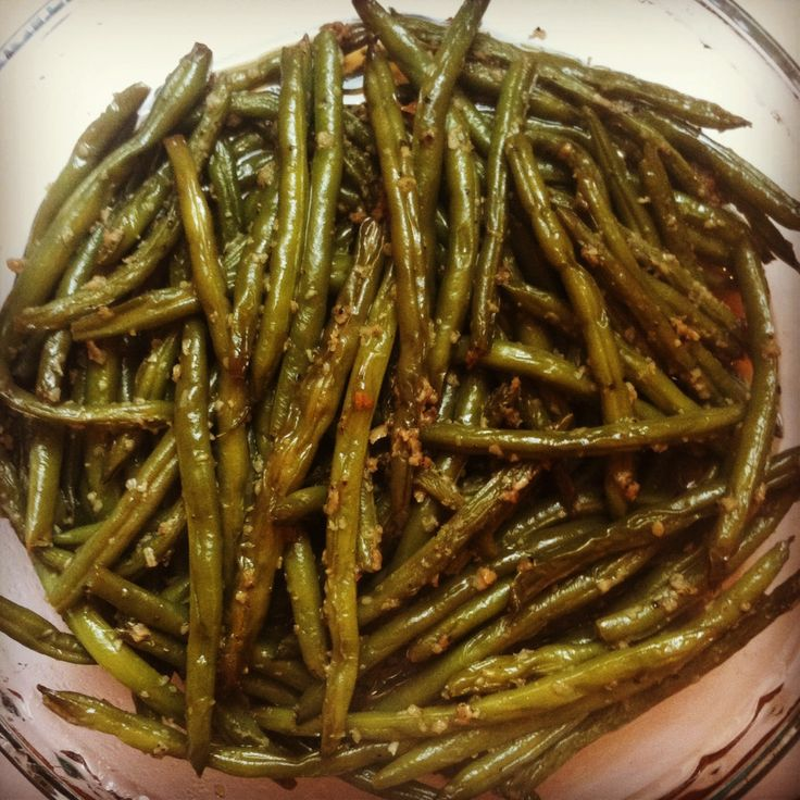 Garlic String Beans - making these in about 10 minutes! Details to ...