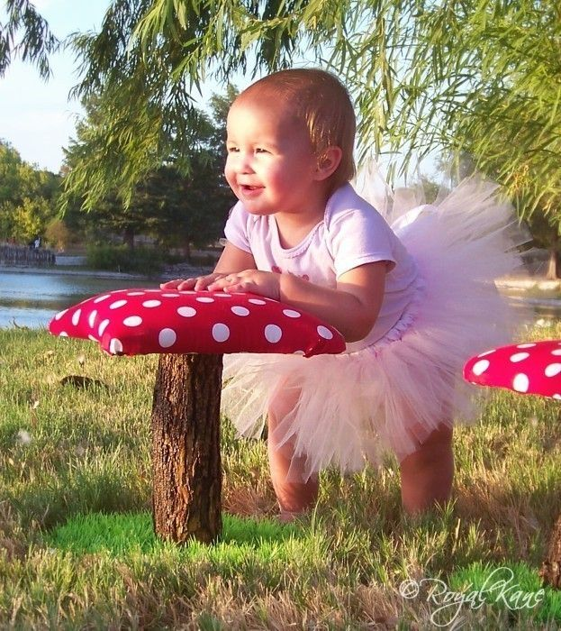 Whimsical Polka Dot Toadstool