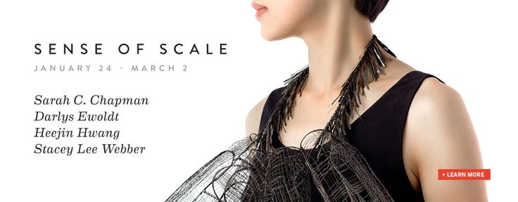 """Sense of Scale: Metal Sculpture and Wearable Art"" presents new work by 4 metalsmiths : Sarah Chapman, Heejin Hwang, Stacey Lee Weber, and Darlys Ewoldt   http://lillstreetgallery.com/annex/i-wish-you-where-here/"