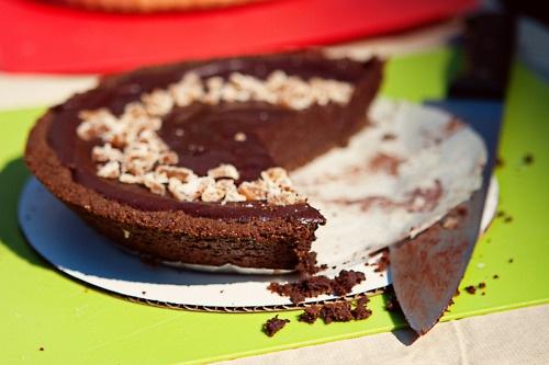 crust gingersnap crust dark chocolate tart with gingersnap crust