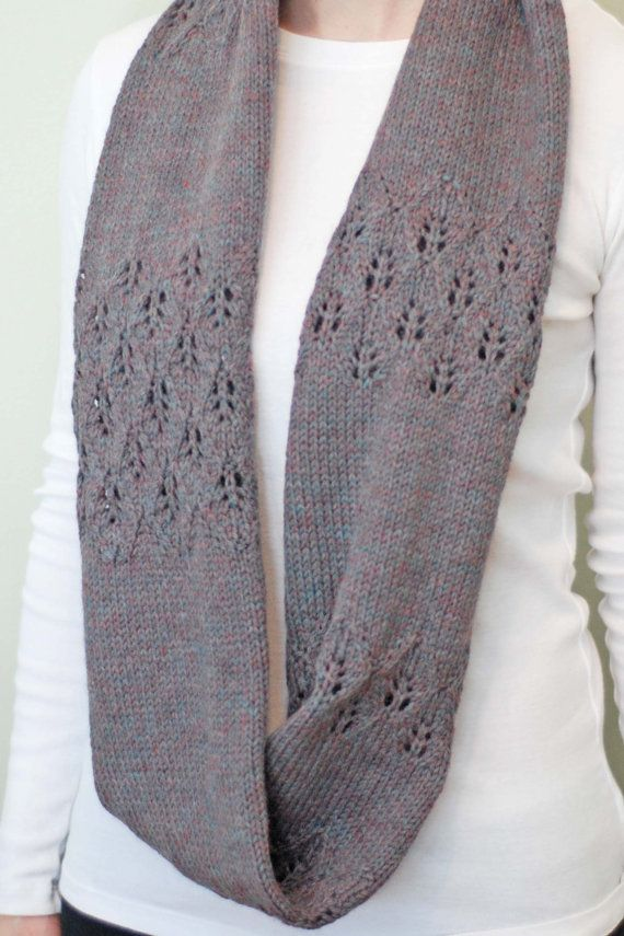 Knitting Pattern Lace Infinity Scarf : Polar Vortex Infinity Lace Knit Scarf Pattern