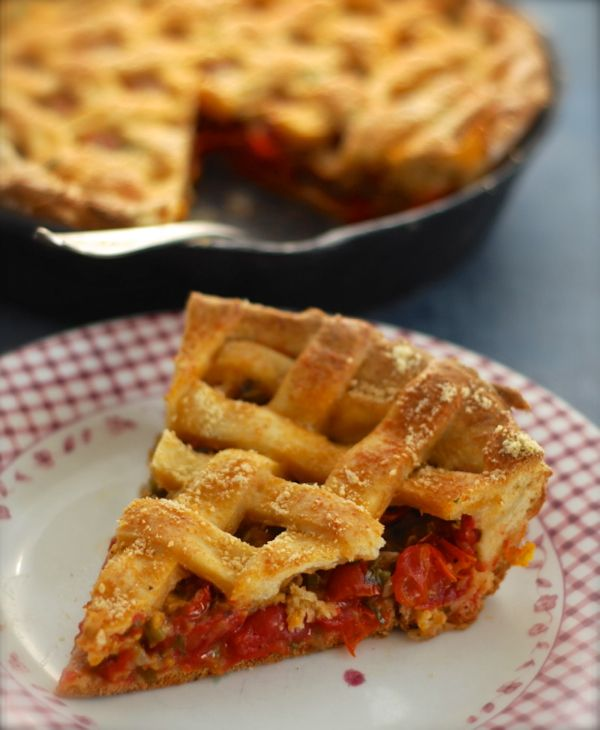 Tomatoe Pie with Cheddar Pastry Crust: ChinDeep