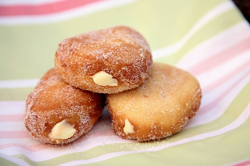 Vanilla Cream Filled Doughnuts | Cream Filled | Pinterest