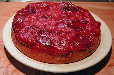 The Iowa Housewife: Upside-down Plum Cake