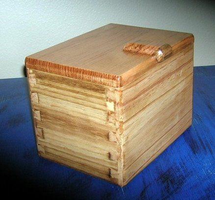 wood recipe box   Pallet Wood Projects   Pinterest