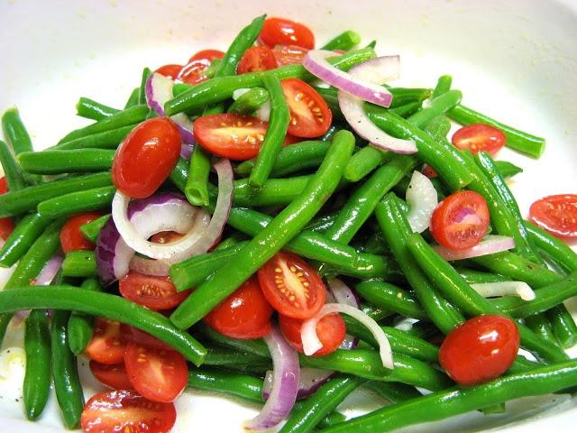 Green bean salad | Yummy - Healthy/Veggies/Fruits & More! | Pinterest