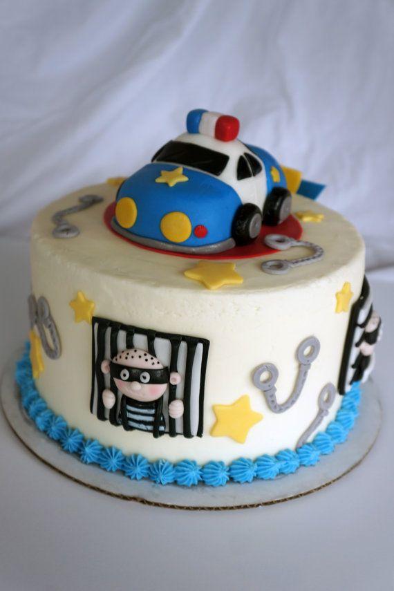 Cake Design For Police : Police Fondant Cake Topper