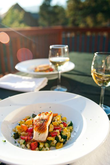 pan-seared black cod with summer vegetables recipe   use real butter