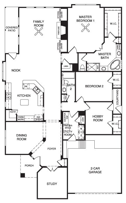 Village builders new home floor plan pinterest Patio homes floor plans