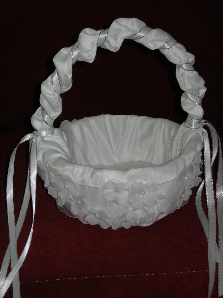 Flower Girl Baskets On Pinterest : Flower girl basket my makings