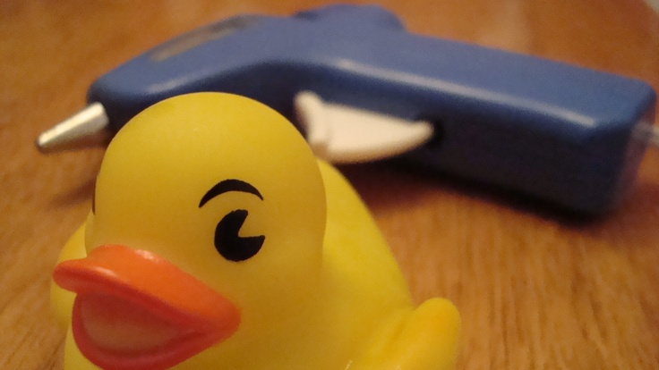 Hot glue bath tub toy holes. No more mold.