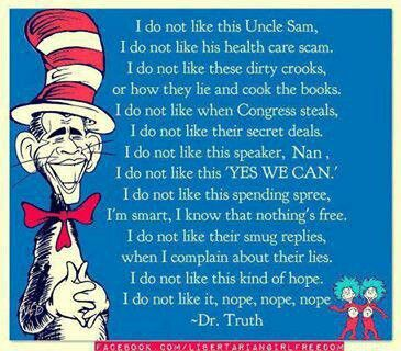 Dr. Seuss I Do Not Like This Uncle Sam