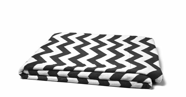 black and white chevron blanket
